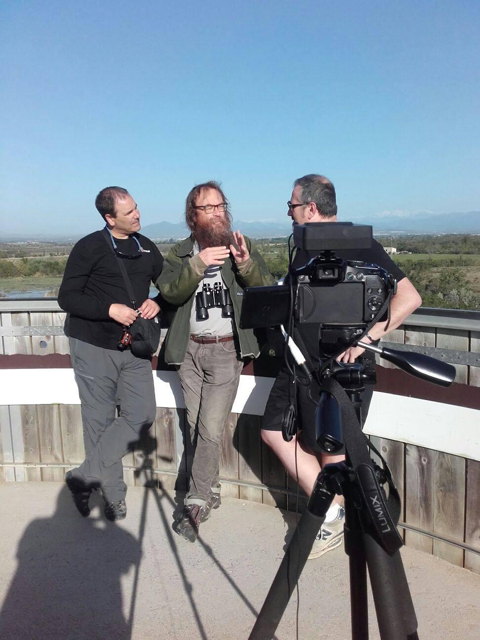 Momentos del rodaje de nuestro programa de televisión ene l que Josemi y JM entrevistas a un personaje en uno de los destinos